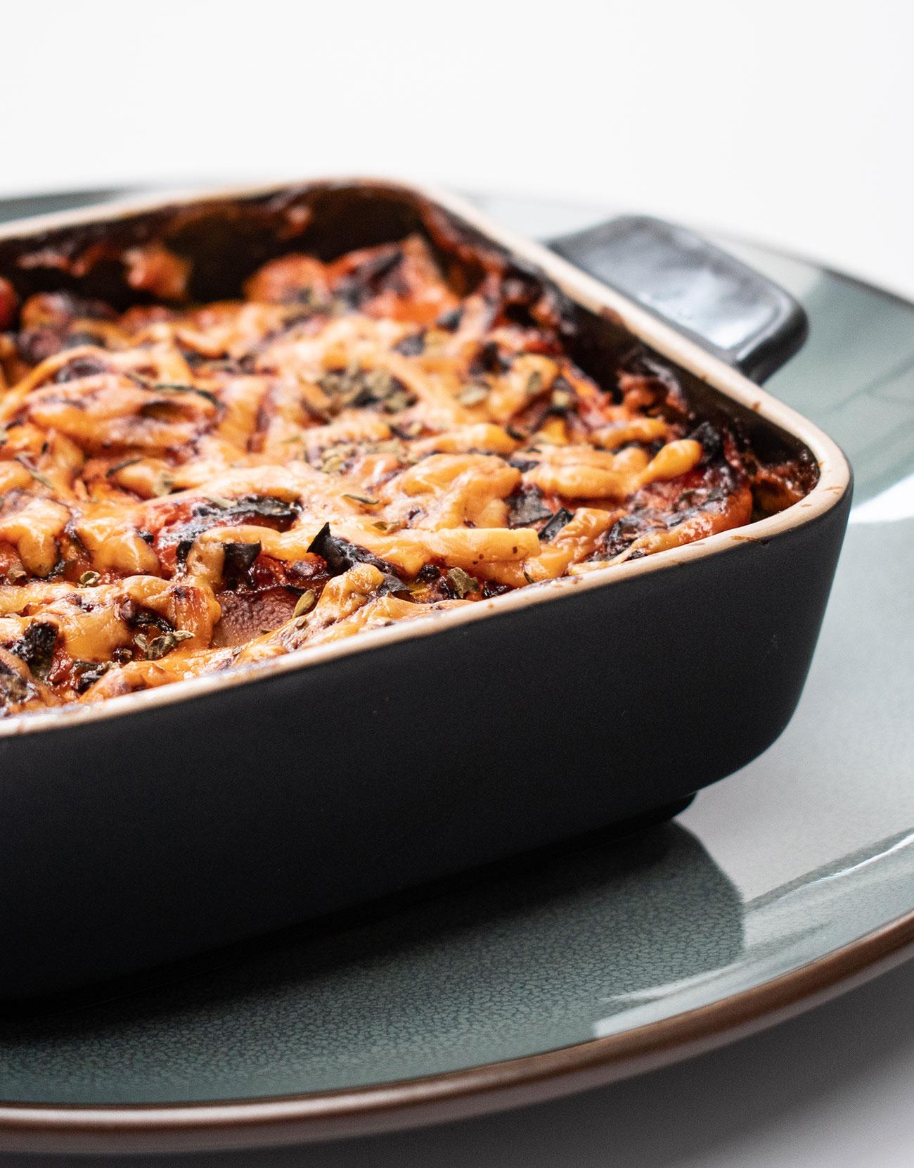 volkoren lasagne met gerookte zalm airfryer