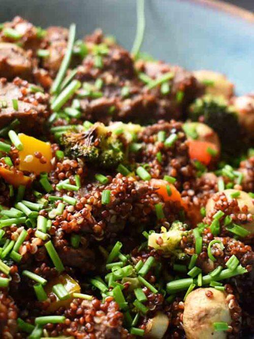 Quinoa salade met diamanthaas uit de Airfryer