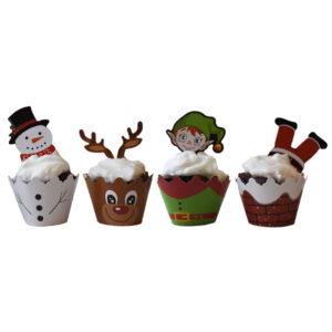 kerst cupcakes vormpjes airfryer