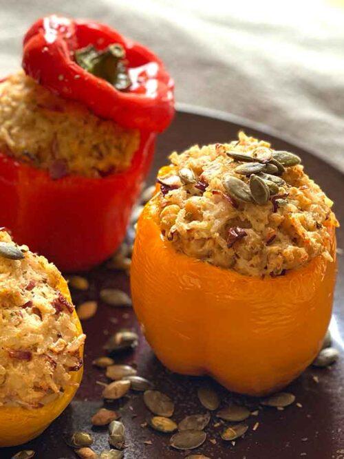 Vegetarisch gevulde paprika's Airfryer