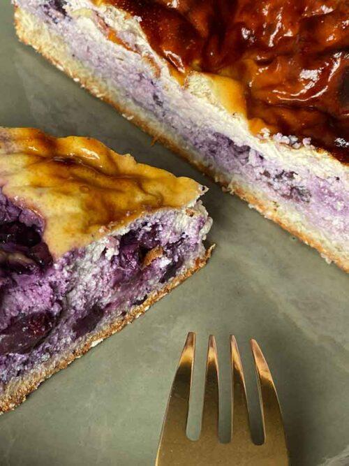 Eiwitrijke cheesecake met bosbessen Airfryer