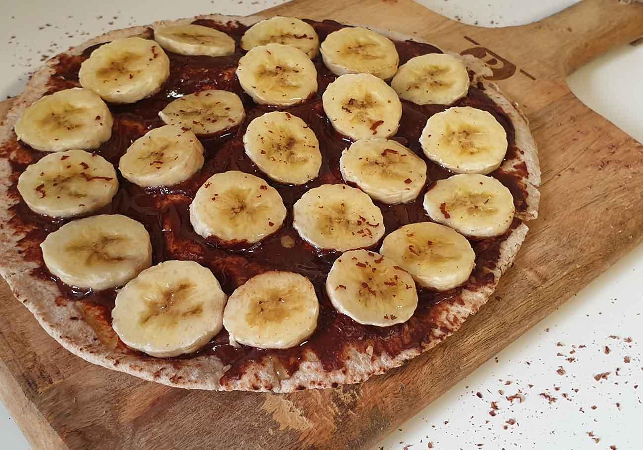 Zoete ontbijt pizza airfryer