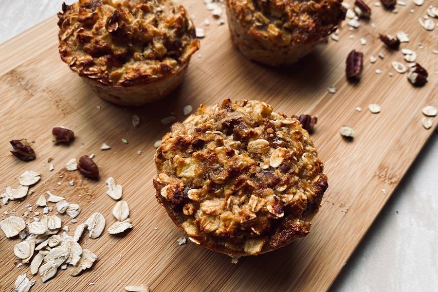 Appel havermout muffins uit de Airfryer